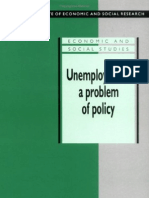 G. D. N. Worswick-Unemployment a Problem of Policy Analysis of British Experience and Prospects (National Institute of Economic and Social Research Economic and Social Studies)(1991)