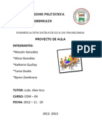proyecto FORMULACIÓN ESTRATÉGICA DE PROBLEMAS informe