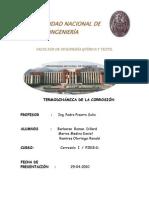 Termodinamica de La Corrosion Informe