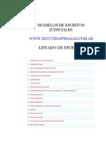 Modelos de Escritos Judiciales