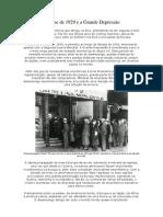 A Crise de 1929 e a Grande Depressão