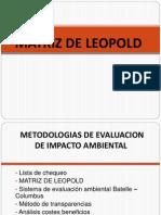 Matriz de Leopold Subir