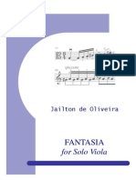 Fantasia for Solo Viola