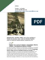 Central Librera Arqueologia Historia Biblia Luis Montero Fenollos