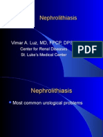 Nephrolithiasis, Urinary Tract Obstruction, Vascular Injury to the Kidneys
