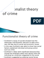 Function a List Theory of Crime