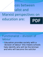 Marxist & Function a List Differences