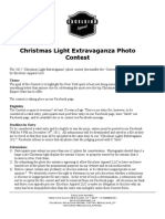 Christmas Light Extravaganza Contest Rules