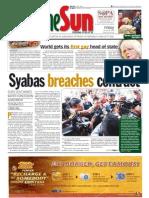 TheSun 2009-01-30 Page01 Syabas Breaches Contract