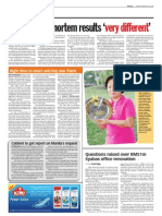 TheSun 2009-01-30 Page04 Second Post Mortem Results Very Different