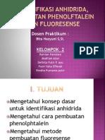 identifikasi anhidrid, pembuatan pp dan fluoresense