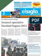 Edicion Eje Este Domingo 02-11-2012