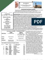 St. Michael's November 18, 2012 Bulletin