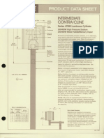 Moldcast Lighting Product Data Sheet Contra Cline Intermediate Luminous Cylinder 1982