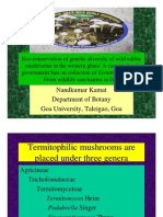 Ecoconservation of Goa's Termitomyces biodiversity