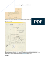German Army Documentation