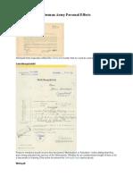 German Army Documentation