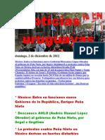 Noticias Uruguayas Domingo 2 de Diciembre Del 2012