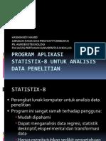 Program Aplikasi Statistik 8 Untuk Analisis Data Penelitian