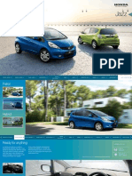 2012 Honda Jazz Owners Manual Brochure
