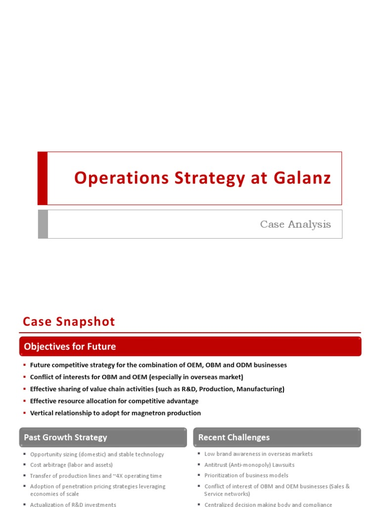 an analysis of the operations strategy Operations management case studies provide students with real world business issues learn about the offerings from learningedge at mit sloan.