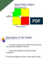 Directional Policy Matrix- Angela