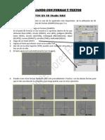 Uso de la opción Formas (Shapes) en 3DStudio Max