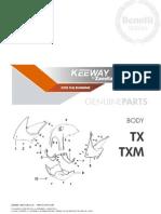 PARTES ORIGINALES KEEWAY TX-M 200