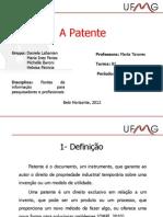 A Patente como fonte de informação