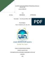 Analisis Pengaruh ROA Dan ROE Terhadap Profitabilitas Bank BRI (New) (Iin Fitria- 109081000146)