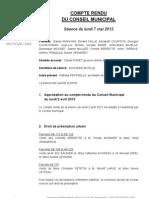 Mignovillard - Compte rendu du Conseil municipal du 7 mai 2012