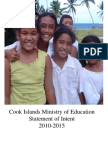 Cook Islands Ministry of Education Statement of Intent 2010-2015