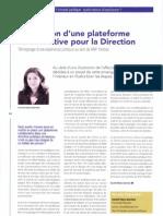 Retour d'expérience suite à la mise en place d'une plateforme collaborative pour la fonction juridique de BNP Paribas / Juriste d'entreprise magazine N°15 (Novembre 2012)
