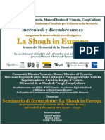 INVITO - La Shoah in Europa a cura di Mémorial de la Shoah presso Museo Ebraico di Venezia