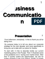 Business Communication - EnG301 Power Point Slides Lecture 40