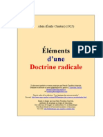 Alain - Elements d'Une Doctrine Radicale [1925]