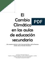Cambio Climático en la educación secundaria.¿Se sensibiliza tal y como se les obliga a los Estados?