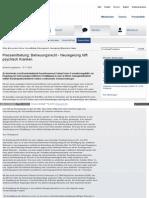 Psychiatrie Zwangsbehandlung - Euthanasiemorde - Regelung der betreuungsrechtlichen Einwilligung in eine Zwangsmaßnahme