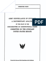 Army Surveillance of Civilians-A Documentary Analysis-Official Congressional Report