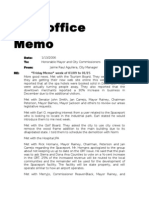 2006 - City Manager Jaime Aguilera's Memos to Mayor, City Comm. & Attorney