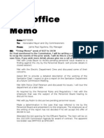 2005 - City Manager Jaime Aguilera's Memos to Mayor, City Comm. & Attorney