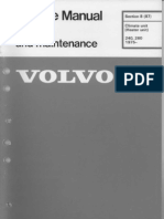 Volvo 240 Heater and Blower Unit Green Workshop Manual TP30282-2