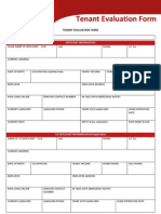 Tenant Evaluation Form