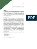 Interpreting Research and the 'Manipulation School' of Translation Studies