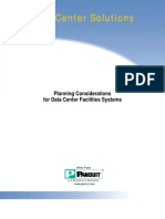 Planning Considerations for Data Center Facilities Systems