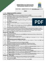 Calendario Reformulado 2012 e 2013