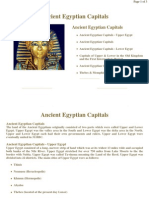 Ancient Egyptian Capitals