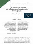 Cainzos - Entre Lo Publico y Lo Privado y La Tirania Griega