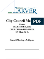 City Carver Council Packet 12032012