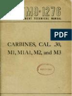 M1 Carbine Ordinance Manual TM9-1276_1947